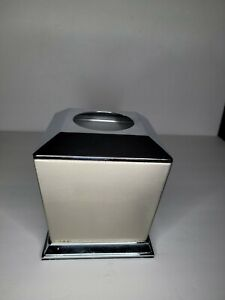 Kleenex Tissue Box Cover  Square Holder Stainless Steel Brushed Nickel Silver