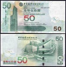 Hong Kong (Bank of China) 50 Dollars 2009 P336 UNC**New Date
