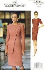 Vintage Vogue Misses Jacket and Dress Pattern 8721 Size 8-10-12 UNCUT