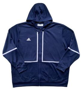 ADIDAS Mens Under The Lights Full Zip Hooded Jacket Blue FM7729 $70 NWT 5XLT