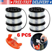 "6-Pack 30ft 0.065"" Replace For Black & Decker Trimmer String Trimmer Spool Line"