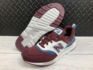 NEW BALANCE 997 Shoes Men's 9 Lifestyle Sneakers Burgundy blue CM997HEW