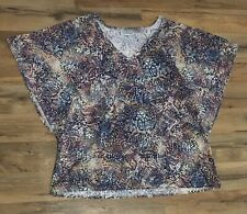 Avenue Brand Top, Size 14/16, Graphic Print Top, Snakeskin, Batwing Sleeve