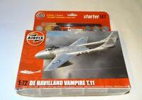 Maquette Airfix Dehavilland vampire T11- starter Set échelle 1/72