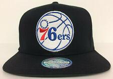 Philadelphia 76ers Mitchell & Ness NBA Snapback Hat Flexfit 110 Black Cap Sixers
