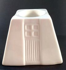 "Mint IRISH BELLEEK Candle VOTIVE TEALIGHT ""Frank Lloyd Wright INSPIRED"" 4""Square"