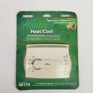 New Hunter Heat/Cool Electronic Thermostat Model 40170 Sealed
