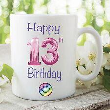 Happy 13th Birthday Teenager Mug Party Present Kid's Novelty Cup Gift WSDMUG117