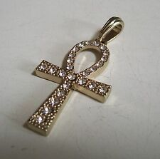 Gold Finish Egyptian Ankh Hip Hop  Religious Fashion Casual/Formal Wear Charm