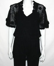 NEW View by Walter Size SMALL Sleveeless Crochet Tunic and Crop Crochet Cardigan