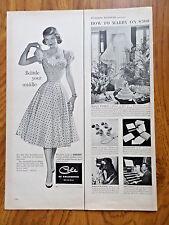 1952 Cole of California Ad  Tiny Desirable Waistline Sun Dress