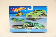 2015 Hot Wheels X-TRAYN Semi-Truck Car Hauler Big Rig NEW IN BOX