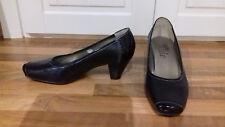 size 3 top quality v expensive black leather PAVERS slip on designer court shoe