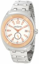 Saint Honore Mens 862110 6APIR Haussman Paris Brushed and Polished SS Date Watch