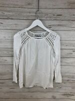 SUPERDRY Top - Size Small - White - Great Condition - Women's