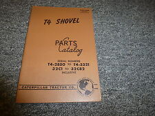 Caterpillar Cat Model T4 Shovel Parts Catalog Manual T42850-T45331 & 32C1-32C82