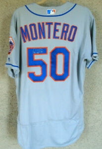 Rafael Montero #59 2017New York Mets VS Phillies Game Team Issued Jersey Signed
