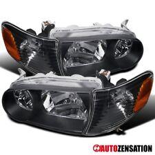 For 01 02 Toyota Corolla Jdm Black Clear Headlights Corner Signal Lamp