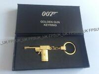 OFFICIAL JAMES BOND 007 The Man With The Golden Gun KEYRING NEW