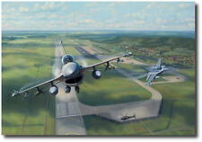 """""""Volk Field Falcons"""" by Jim Laurier - F-16 Fighting Falcon - Aviation - Canvas"""