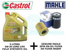 MAHLE Engine Oil Filter OX 133D plus 5 litres Castrol Edge 5W-30 LL F/S Oil