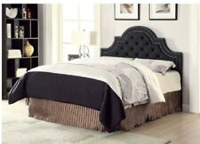 Tufted Headboard King Size Charcoal.Upholstered Nail Head Trim Modern Bed Room