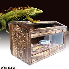 Large Wooden Reptiles Cage Terrarium Reptile Snake Spider Tarantula Frog Tank Us