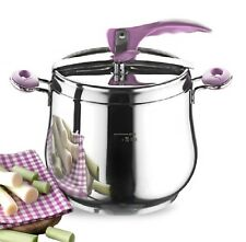 7 Ltr Stainless Steel Pressure Cooker Casserole Stock Pot Stove Induction Base