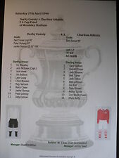 1946 FA Cup Final Derby County v Charlton Athletic Matchsheet