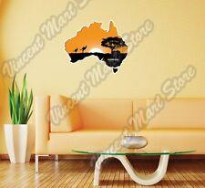 "Australia Map Desert Kangaroo Gift Idea Wall Sticker Room Interior Decor 25""X20"""