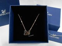 Swarovski Facet Swan Necklace, Black, Mixed plating, Crystal Authentic 5281275