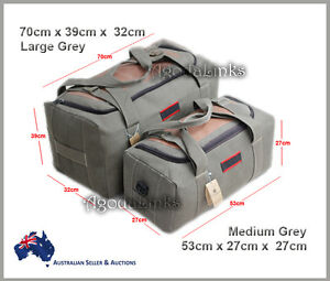 New CANVAS DUFFLE LARGE BAG CARRY BAG Tough Tool Travel Luggage Camping GREY