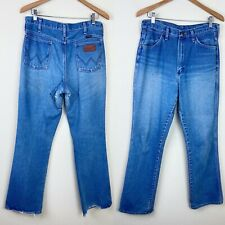 VTG 80s WRANGLER 945 Cowboy Cut Jeans 32x32 ACTUAL Patch Western Faded USA MADE