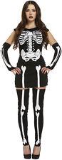 LADY Scheletro Vestito Halloween Costume Taglia 12 - 14