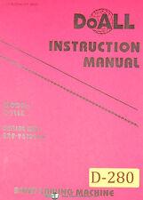 Doall C 916s Band Saw Machine Instructions Manual 1996