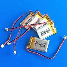 5 x 3.7V 200mAh Li Po Battery for GPS Smart Watch MP3 402030 JST 1.5mm Connector