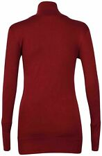Plus Size Long Sleeve Fitted Polo Neck Tops & Shirts for Women