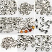500Pcs Tibet Silver Beads Spacer For Jewelry Making European Bracelet DIY