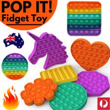 🔥 POP IT FIDGET Stress Relief Push BUBBLE Toy TIKTOK 2021 Square Round Kids NEW