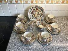 More details for maling chestnut brown chintz tea set.