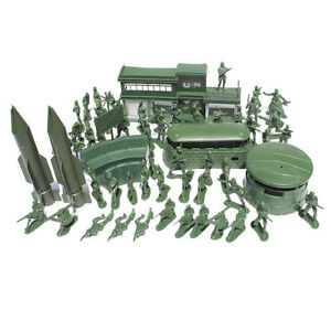 56pcs Plastic   Playset 5cm Army Figures Model Toys For Kids Adult