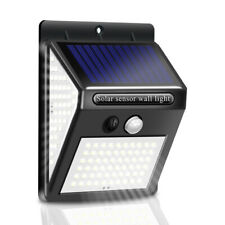 Solar PIR Motion Sensor Light 140-LED Outdoor Path Garden Security Wall Light