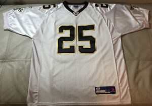 NWOT Authentic Sewn Reebok New Orleans Saints Reggie Bush Jersey Mens Size 52 XL