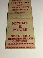 Vintage Matchbook Cover Michael H. Moore Redondo Beach California.