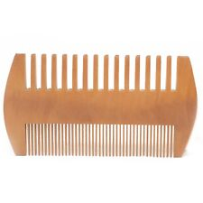 BEARD COMB - 2 Sided - Strong & Durable Made From Sustainable Bamboo & Pear Wood