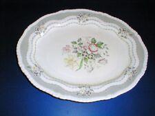 "Ridgway China Staffordshire England Grey RUTLAND 14"" Oval Platter"
