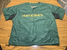 Vintage Nike Team Miami Hurricanes Baseball Warm Up Size Large Green/Orange