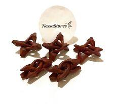 "NessaStores Carved Tripod Wood Stand Holder 2""  ( 120 pcs ) #JC-44"