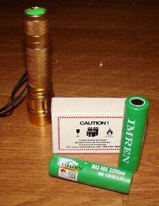 Skywolfeye Super Bright 800 Lumens Zoom 18650 Penlight, Imren Certifed Batteries