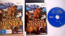 Cabela's Big Game Hunter (Nintendo Wii, 2008) Game Hunter Complete